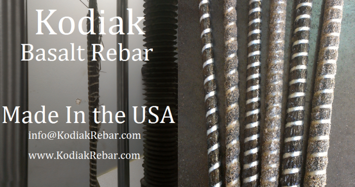 Basalt Rebar -Made in The USA- Kodiak FRP Rebar